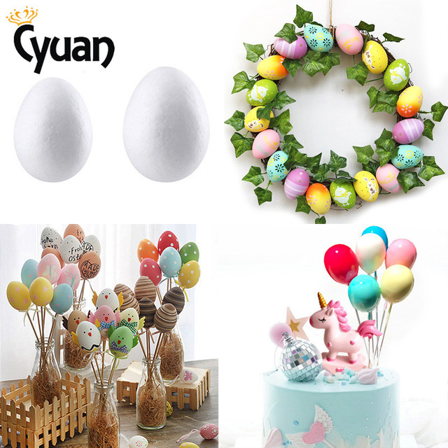 Easter Eggs Styrofoam Foam Ball DIY Easter Decorations For Home Child Kids  Gift Party Favor Handmade Easter Party Supplies