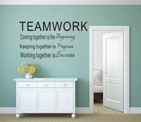 Amusing teamwork Vinyl Kitchen Wall Stickers Wallpaper For Boys Bedroom Decals Decoration Accessories Murals