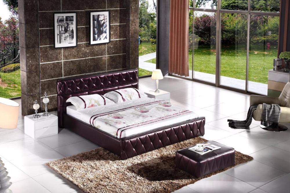 Compare prices on leather bed frames online shopping buy for Muebles de oficina hot sale
