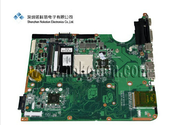 NOKOTION Hot sale laptop motherboard for HP DV6 571186-001 full tested original 615279 001 pavilion dv6 dv6 3000 laptop notebook pc motherboard systemboard for hp compaq 100% tested working perfect
