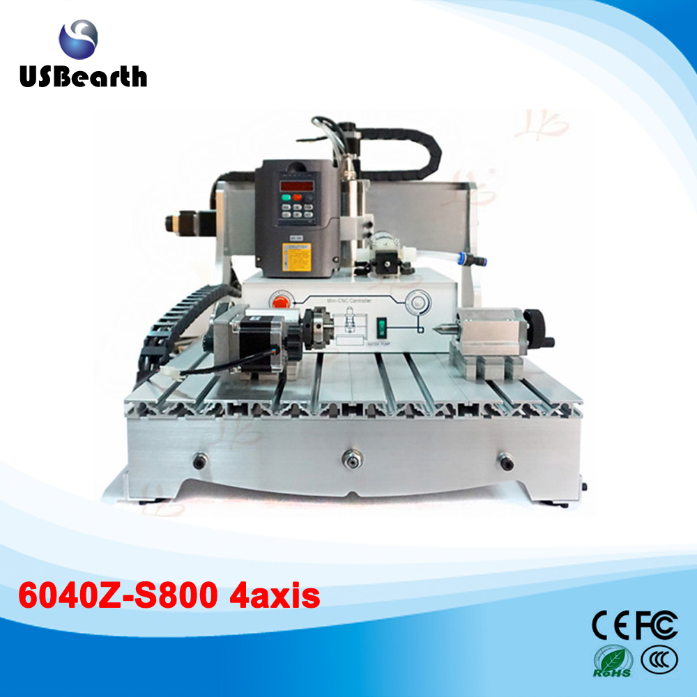 800W 4 axis CNC machine CNC 6040 router for metal cutting 110/220V cnc 5axis a aixs rotary axis t chuck type for cnc router cnc milling machine best quality