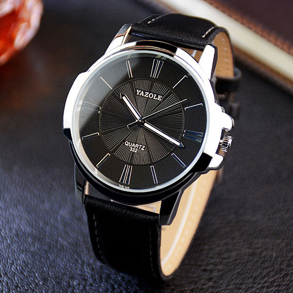 YAZOLE Business 2018 Wristwatch for Man Fashion Men Watches Top Brand Luxury Famous Quartz Watch Male Clock Relogio Masculino new 2017 men watches luxury top brand skmei fashion men big dial leather quartz watch male clock wristwatch relogio masculino