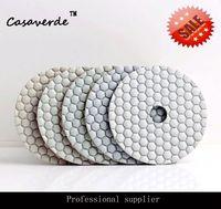 O envio gratuito de 4 polegada (100mm) de diamantes granito almofadas de polimento a seco para o mármore e pedra polidor pad diamante concreto