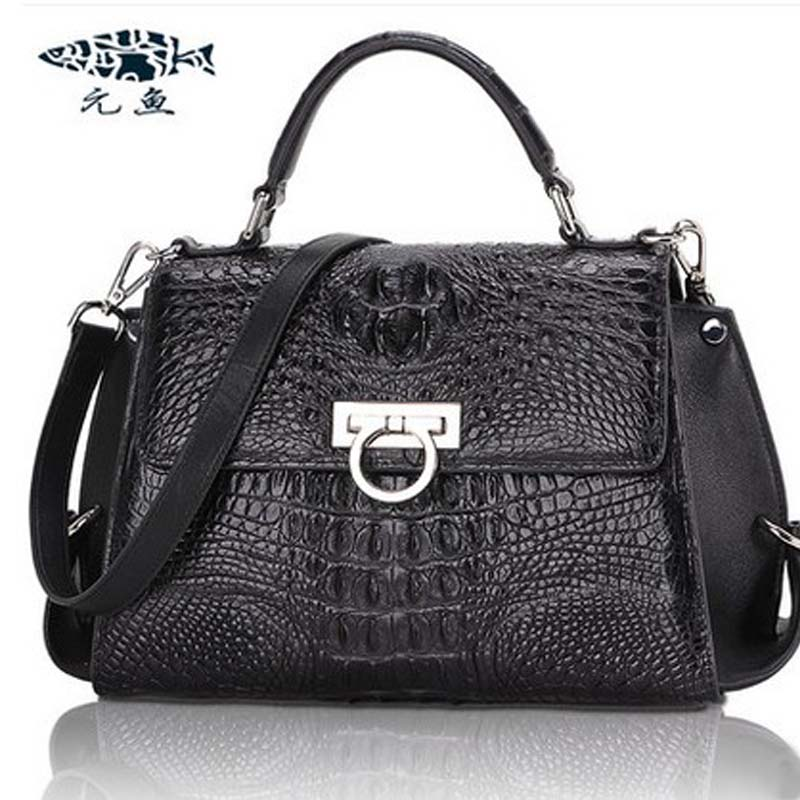yuanyu  new 2018 real crocodile skin handbag real leather bag high capacity  American fashion women  handbags yuanyu new crocodile wallet alligatorreal leather women bag real crocodile leather women purse women clutches