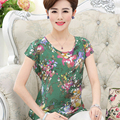 2016 women summer tops pure silk short-sleeved chiffon shirt Selection of comfortable fabrics blouse chiffon tops