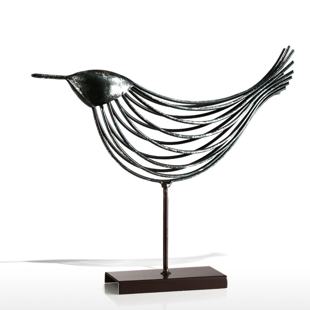 Tooarts Iron Wire Bird Tooarts Metal Sculpture Home Decoration Creative Sculpture Bird Table Home Table Decor Handmade Craft Statues Sculptures Aliexpress