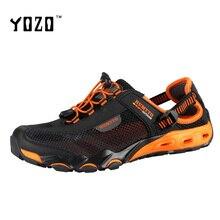 YOZO Hommes Sandales Mode De Luxe Respirant Mesh Semelle En Caoutchouc Haute Qualité Plat Loisirs Marque Sanadals Casual Plage Sandales Hommes