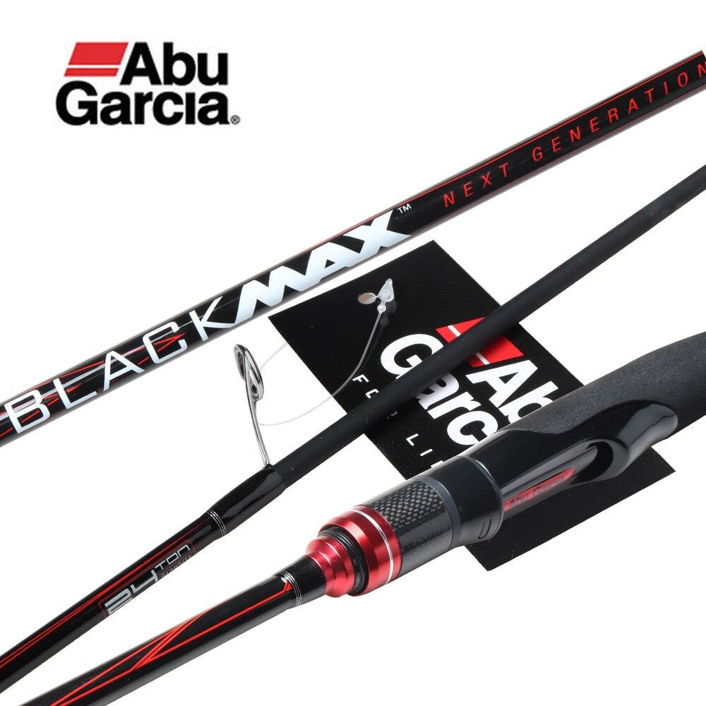Original Abu Garcia New Max Black BMAX Baitcasting Lure Fishing Rod 1.98 m 2.13 m 2.44 m ML M MH poder Fiação De Carbono Vara De Pesca