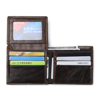 Wax Oil Skin Wallet Men Organizer Wallets Brand Vintage Genuine Leather Cowhide Short Men S Wallet