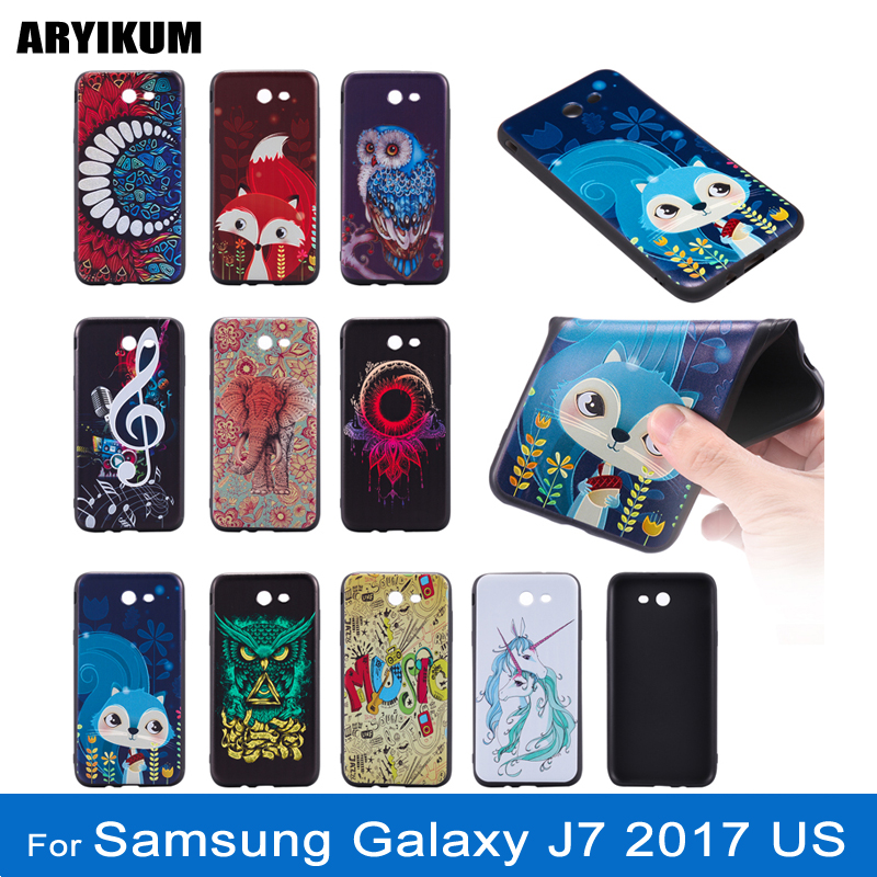 ARYIKUM For Samsung Galaxy J7 2017 j730 j730f Pro Dual Sim Soft Silicone Cute Mobile 3D Case Cover For Samsung J7 J 7 2017 Coque