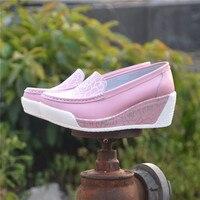 2015 Women S Shoes Genuine Leather Swing Shoes Cutout Breathable White Nurse Shoes Platform Shoes Work