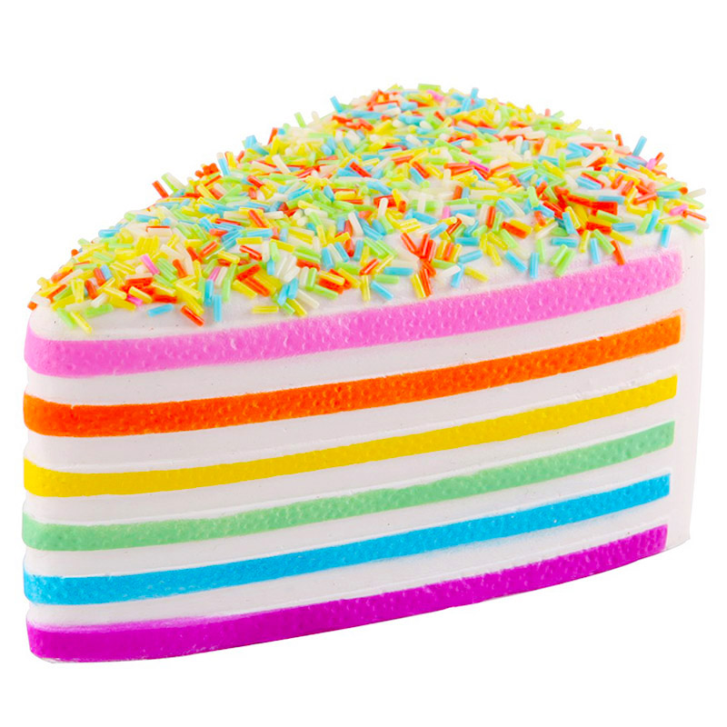 Jumbo Colorful Chocolate Cake Squishy Simulation Slow Rising Bread Cake Scented Soft Squeeze Toys Stress Relief Kid Baby Fun Toy