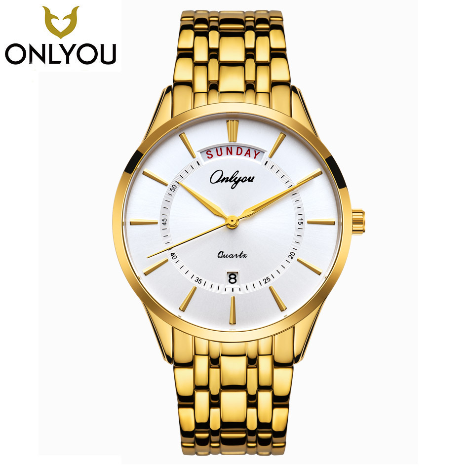 ONLYOU New Watches Men Boy Top Brand Luxury Gold Big Dial Wristwatches Women Fashion Business With Calendar Quartz Girl Watches motorcycle cnc engine guard stator protective plug clutch protect slider cover right