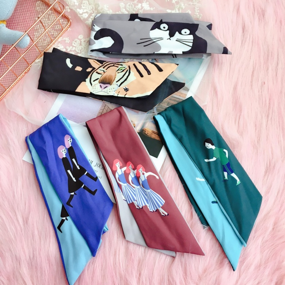 Korea Cartoon Plaid Wide Double Sided Color Matching Headbands For Girls Bunny Hairbands For Women Hair Bows Hair Accessories 4 in Women 39 s Hair Accessories from Apparel Accessories