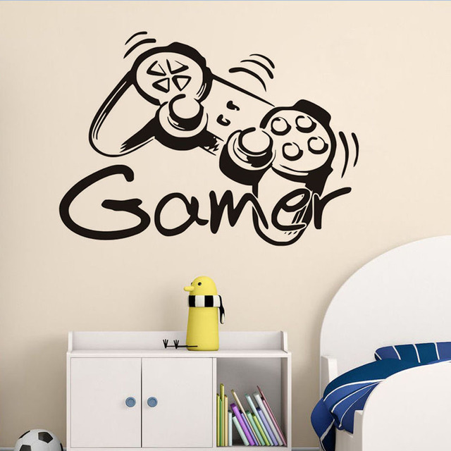 Game Remote Control Wall Sticker For Kids Room Decor DIY Wallpaper Poster Decal Boys Bedroom