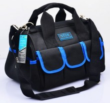CAMMITEVER 12inch Handbag Professional Tool Bag Electrician 600D Oxford Rivet Fixed Sling Belt Utility Kit Pocket Pouch