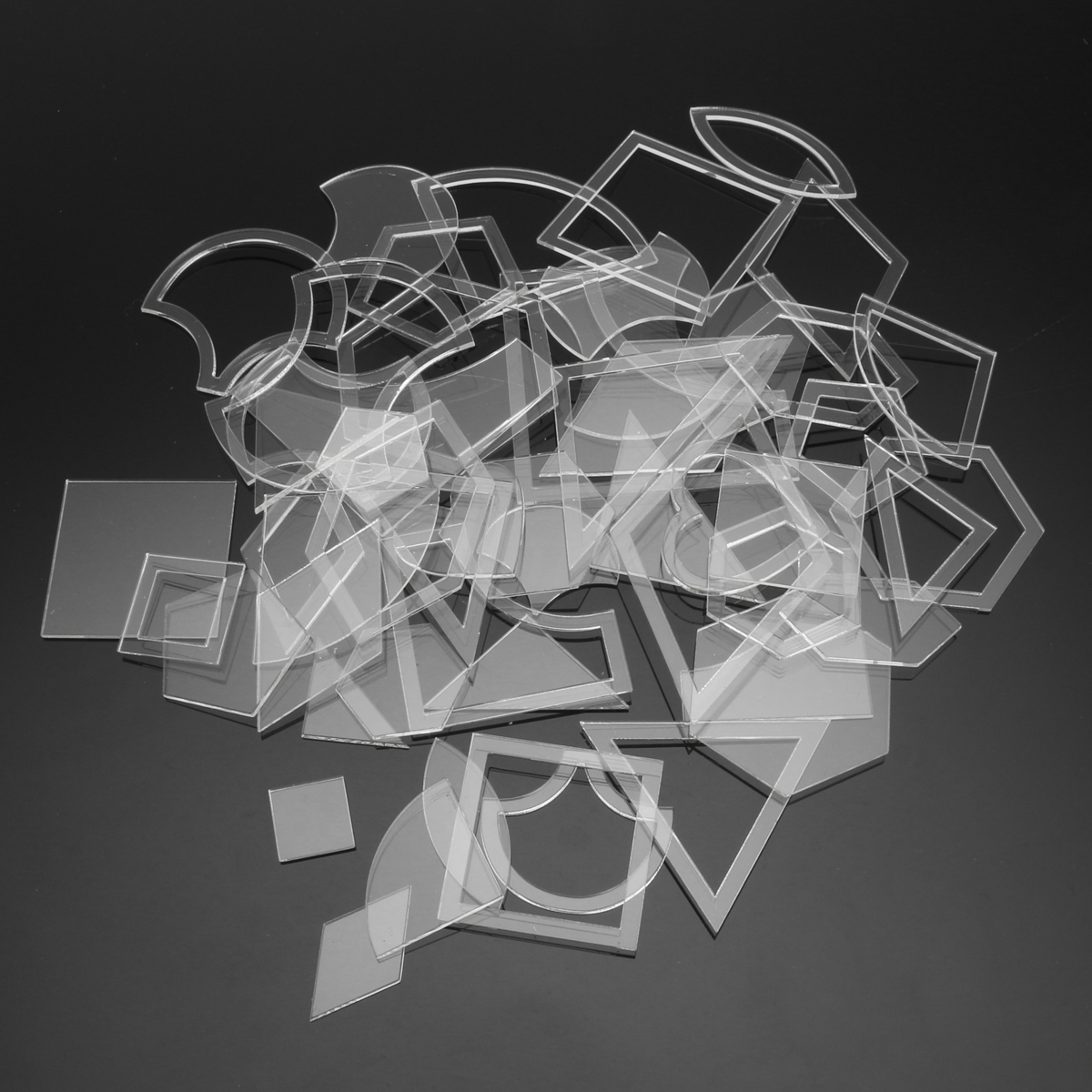 54 unids acrílico transparente acolchado plantillas Costura stencils ...