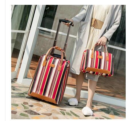 Women travel Luggage Bag cabin luggage suitcase trolley bag with wheels carry on luggage Bag Rolling Wheeled Travel Boarding bag luggage
