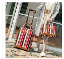Women travel Luggage Bag cabin luggage suitcase trolley bag with wheels carry on luggage Bag Rolling Wheeled Travel Boarding bag