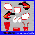 CR125 CR250 1997 1998 1999  YEAR 3M GRAPHICS  RED WHITE BACKGROUND DECALS STICKERS KITS  DIRT BIKE MOTOCROSS