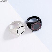 Anillo esmaltado Hanreshe Ladybug con diseño de anillo para regalo de niño y niña, anillo para fiesta de compromiso clásico, anillo negro plateado bonito para hombres