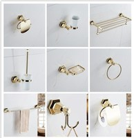 new Modern sanitary hardware set gold Finished Bathroom Accessories Products ,Towel Holder,Towel Bar towel ring set