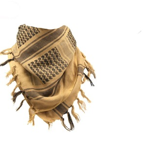 Image 2 - 綿 100% 厚いアラブスカーフ男性の冬の軍事 Keffiyeh 防風スカーフイスラム教徒ヒジャーブ Shemagh タクティカル砂漠正方形ウォーゲーム