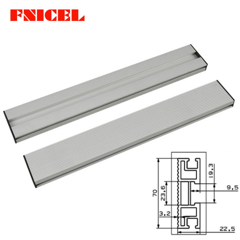 Tools : 450 600 800mm Aluminium Profile Fence 70mm Height with T-tracks and Sliding Brackets Miter Gauge Fence Connector for Woodworking