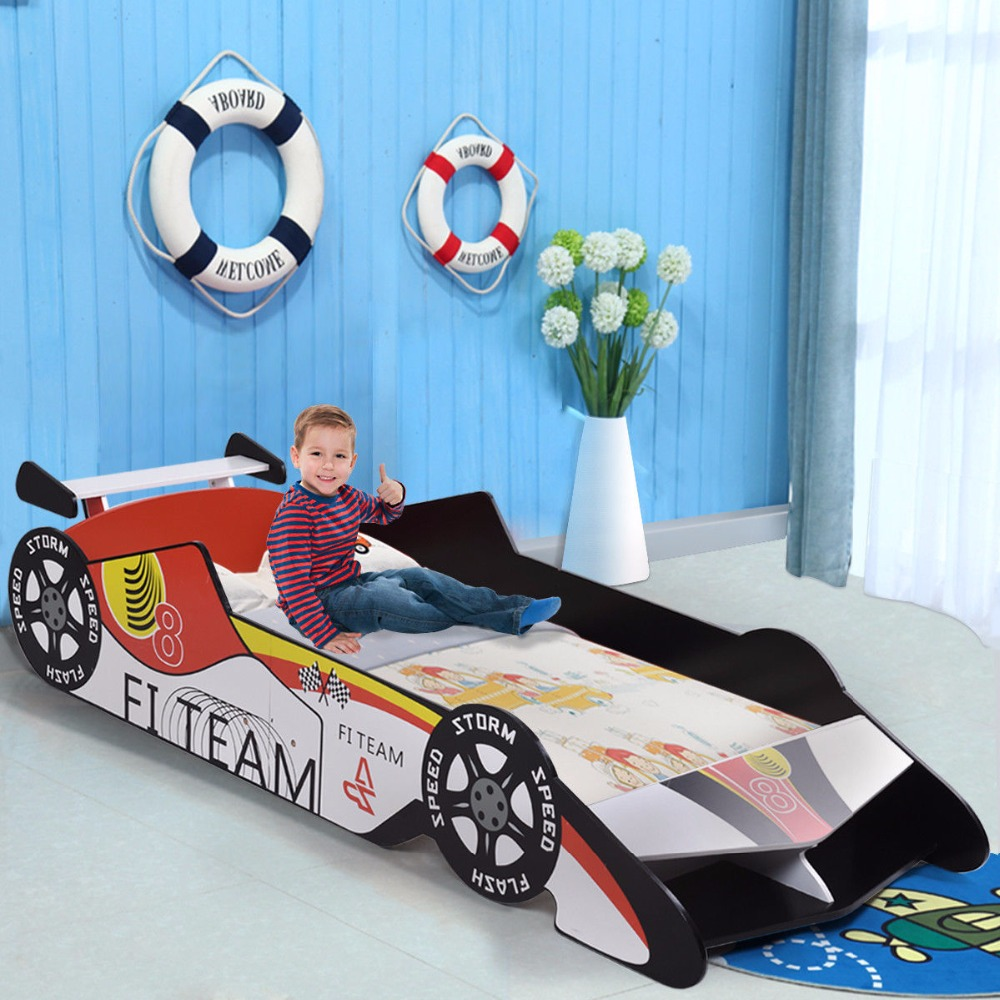 Giantex Kids Toddler Bed Race Car Children Bedroom Fun Play Boys and Girls Furniture New Modern furniture HW57013