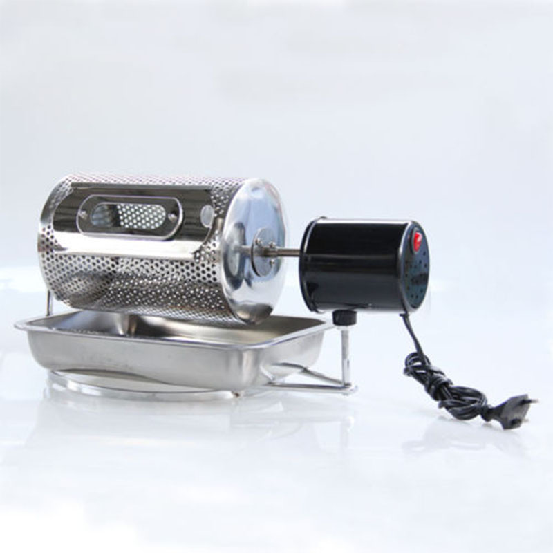 New Stainless Steel Drum Type Coffee Roaster Small Household Grains Beans Baking Machine Electric Roasting Machine