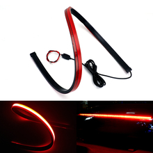 Unverisal 90cm Flexible High Mount Stop Car Rear Tail LED Warning Light Auto CHMSL Red Third