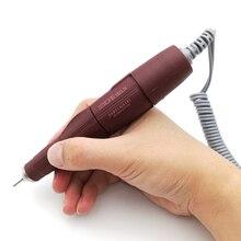 Pulidor de uñas con mango marrón, herramienta de precisión de 45.000 RPM, 102LN, pulidor de uñas con Motor potente 210, taladros de máquina eléctrica