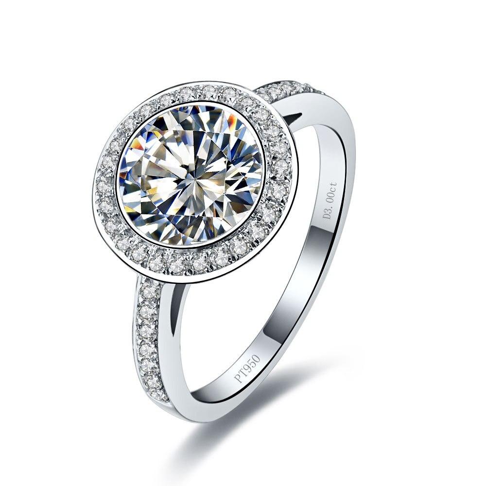 3 carat diamond wedding ring price wedding ring prices Solid 14 Karat Gold Amazing 3 Carat Synthetic Diamonds Wedding Ring Fine Brilliant Customize Solid Gold