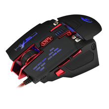 Programmable Professional Computer Mice 4000DPI Wired USB LED Optical Gaming Mouse  For Laptop Desktop PC Gamer