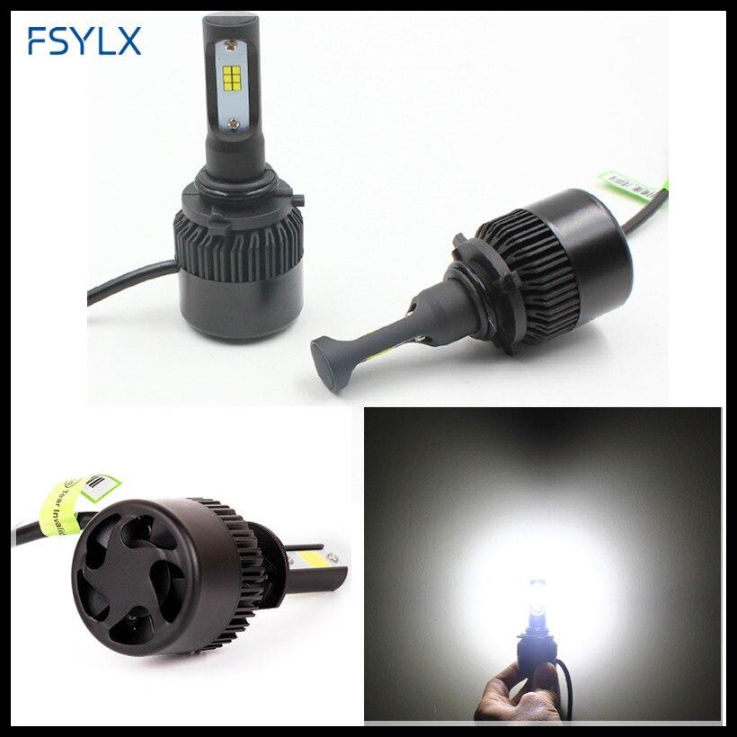 где купить FSYLX H8 H9 H11 CSP LED Headlight 72W 16000LM all-in-One Auto Car H8 H9 H11 LED Headlights LED fog lamp Car Headlight bulbs по лучшей цене