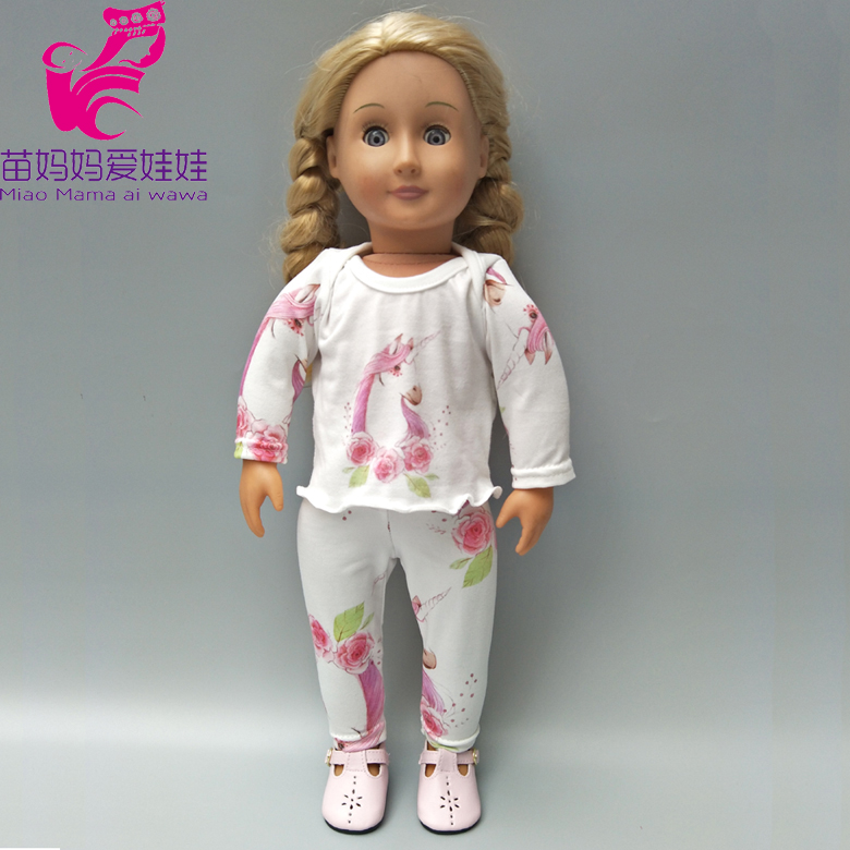 Doll clothes pants For 18 inch american girl doll long sleeve shirt Christmas gift to children girl baby born doll clothes wear 1pcs set winter dress for for american girl doll clothes for 18 inch doll christmas girl s gift aug 15