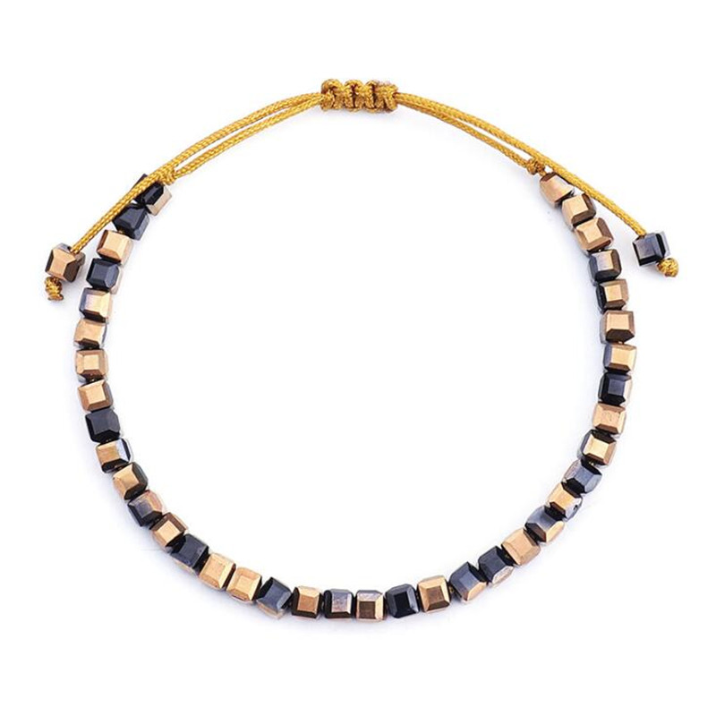 DIEZI Drop Shipping Quart Bracelets Handmade Rope Strand Bracelets For Women Boho Jewelry Statament Crystal Bracelet