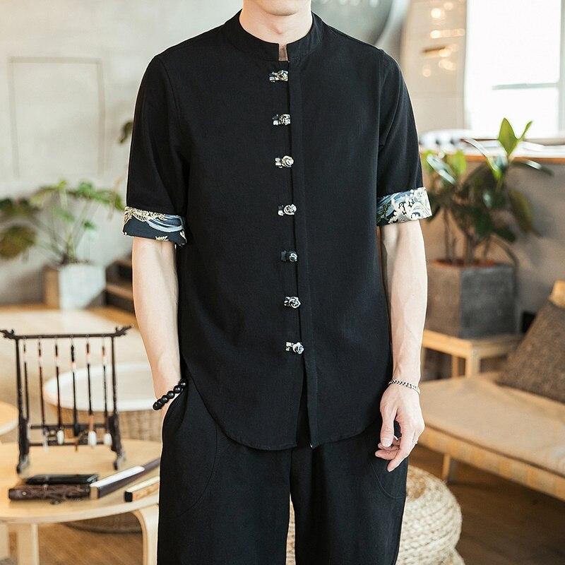 Yukata Kimono Japones 2019 Summer Online Chinese Store Shirt Kimono Karate Samurai Costume Haori Japanese Pajamas Mens FF2088