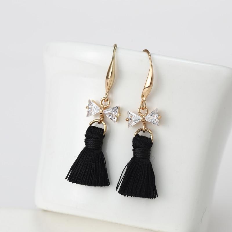 268a3ea08462 2016 Nuevo Accesorios cristal bowknot forma oreja bijoux Pendientes de gota  para las mujeres para la boda ed161