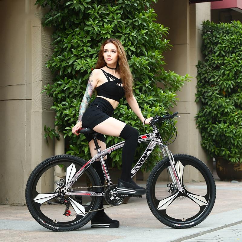 AOXIN 26 pouces VTT 21/24/27 vitesses en acier à haute teneur en carbone vélos de montagne sport hommes femmes bicicleta