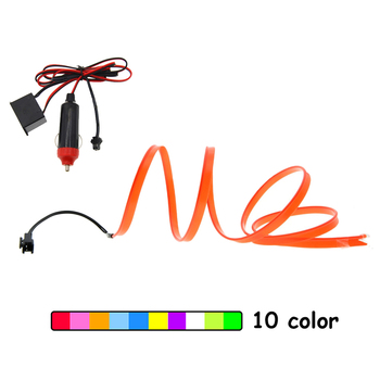 EL Wire Car 6mm Sewing Edge Neon Glowing Strobing Electroluminescent Halloween Car Dance Party Decor Led strip Light DIY wire image