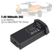 7.4V 900mAh 25C 2S Li po Rechargeable Battery Spare Parts Accessories for Le idea IDEA7 RC Drone Quadcopter Aircraft UAV fz