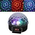 Мини популярный 27 Вт LED хрустальный магический шар сценический эффект освещение лампа Вечеринка диско свет саундлайт прожектор