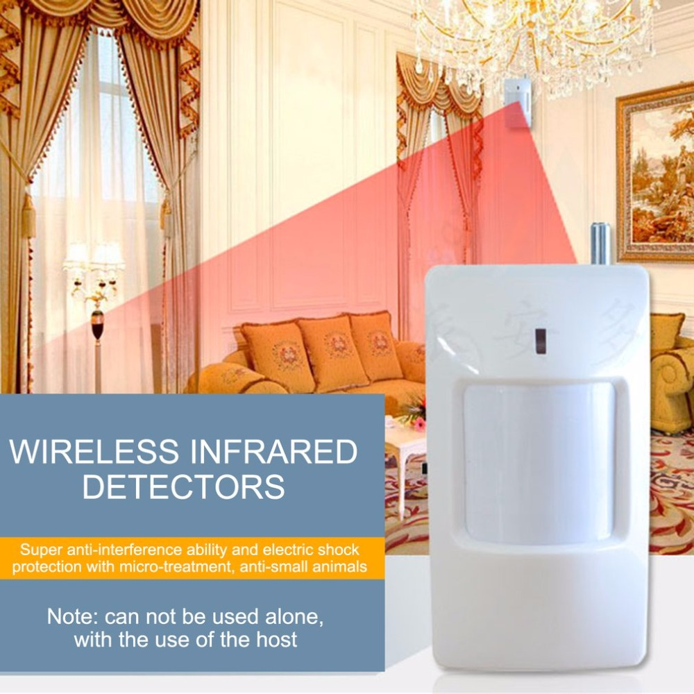 LESHP Smart Wireless Mini PIR Infrared Passive Sensor Motion Detector 710 PIR Detector Home Security Alarm System 433Mhz 433mhz home burglar security alarm system waterproof wireless outdoor siren kit with door sensor pir motion detector smart home