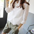 Lossky New Arrival Fashion Casual Women Blouses Women Shirts Female Blusas Femininas Lace Blouse Ladies Top Camisa Feminina