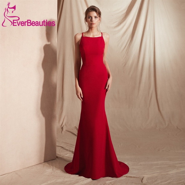 0586dd37b42 Mermaid Evening Dresses Long Wine Red Formal Dress Robe De Soiree 2019 Dress  for Party Elegant Evening Gowns