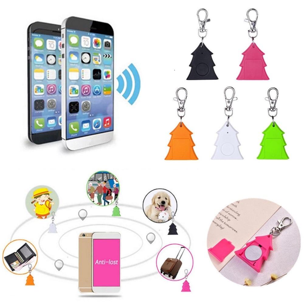 Mini Christmas Tree Anti-lost Keychain GSM GPRS GPS Tracker Locator Device Smart Tag Bluetooth Alarm Keychain Wireless Finder mini nut3 smart finder bluetooth wifi tracker gps locator