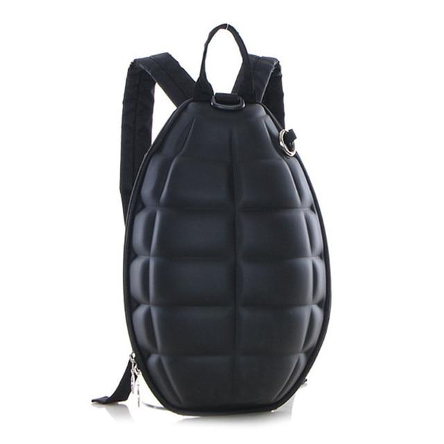 Creative PU leather Turtle Shell Backpack Hand Grenade women small Shoulder  Bag Cool Children School Bags for boys girls mochila 980a2e5c3941b