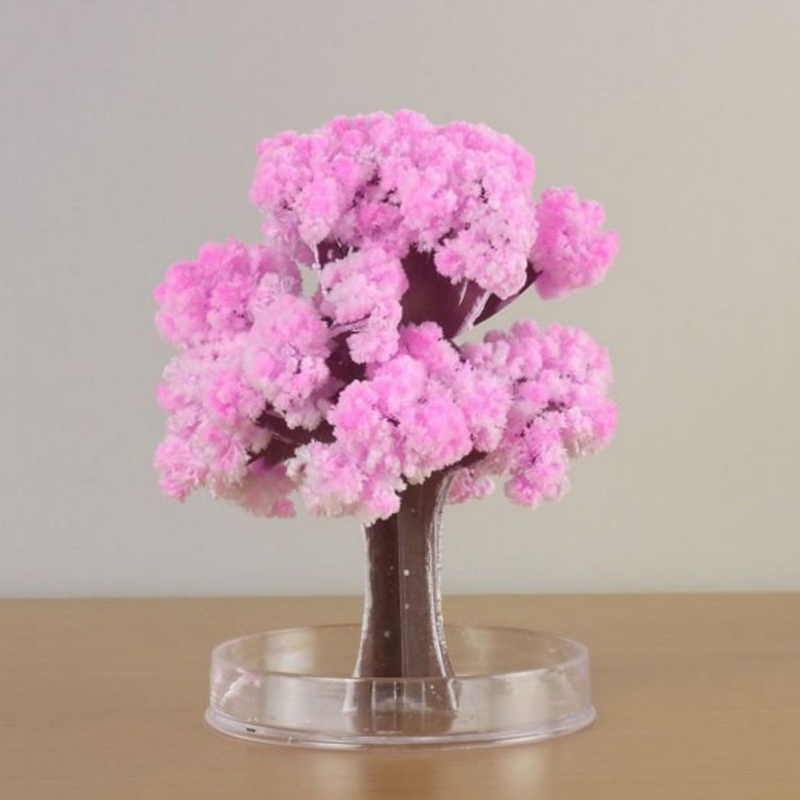 DIY Paper Flower Artificial Magic Sakura Tree Desktop Cherry Blossom Kids Education Toys 2018 Hot
