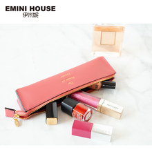 c3bf7d2cec EMINI HOUSE Genuine Leather Women Make Up Bag Exquisite Organizer For Cosmetics  Makeup Pouch Zipper Closure